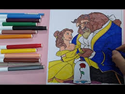 beauty beast coloring pages color princess belle