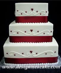 Wedding Cake Simple Square Wedding Cakes Wedding Ideas