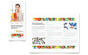 bookkeeping services brochure template word u0026 publisher