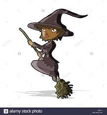 cartoon witch riding broomstick stock vector art u0026 illustration