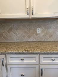 Kitchen Backsplash Travertine Travertine Countertops Tumbled Stone Tile Backsplash Tumbled