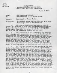memorandum regarding the enlistment of navajo indians national
