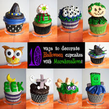 Halloween Cupcakes by Diy 10 Ways To Use Marshmallows To Make Halloween Cupcake Toppers