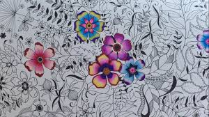 secret garden basic flower coloring coloring with colored