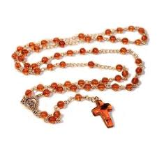 catholic rosary 100 honey baltic christian catholic rosary