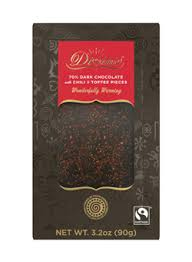 per 250 en el div divine chocolate dark chocolate sweet chilli topped bar a
