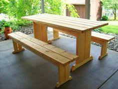 picnic table with separate benches reclaimed wood flat pack picnic table with planter ice trough