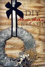Easy To Make New Year S Eve Decorations by New Years Wreath Easy Decorations Xmas Wreaths And New Year U0027s