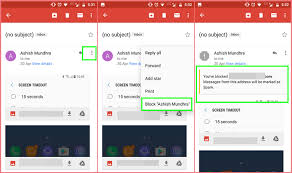 how to block emails on android how to block someone on gmail via desktop and phone