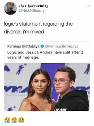 Memes About Divorce - logic s statement regarding the divorce i m mixed famous birthdays