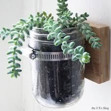 Planters That Hang On The Wall Hanging Mason Jar Planter The 3 R U0027s Blog