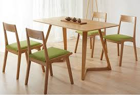 White Oak Dining Room Set - style wood chairs minimalist white oak dining table combination