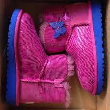 46 ugg other toddler ugg mini bailey button lizard pink