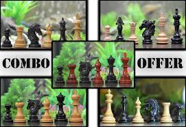 luxury lot of 5 staunton series chess sets in different woods
