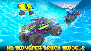 monster truck video game water slide monster truck race android apps on google play