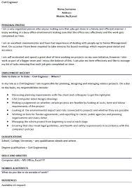 civil engineer cv example u2013 cover letters and cv examples