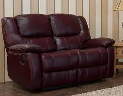 2 Seater Reclining Leather Sofa Reclining 2 Seater Leather Sofa Burgandy