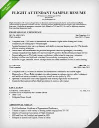 Job Objective In Resume by Flight Attendant Cover Letter Sample Resume Genius