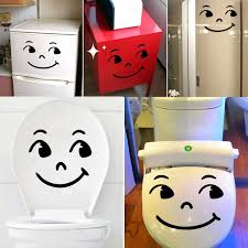 funny cartoon smile cry face toilet seat stickers bathroom wall funny cartoon smile cry face toilet seat stickers