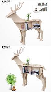 scandinavian style deer elk animal mascot shelf console table