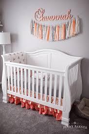 savvy u0027s room a peach gray nursery jenny barnes photography