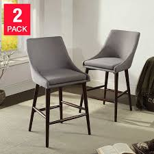 miko grey counter stool 2 pack