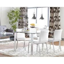 modern white dining room table smith modern white dining chair eurway furniture