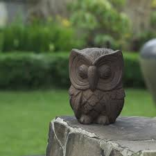 lofty idea garden owl statue decoration 1000 images