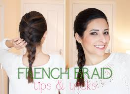 nice hairstyle for short medium hair with one hair band french braid tips for medium short length hair beauty