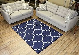 navy and white rugs amazon com