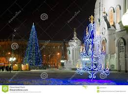christmas decorations in the orthodox church royalty free stock