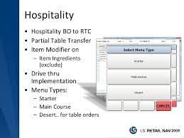 types of table ls ls retail nav new features ppt video online download