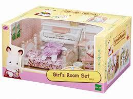 set chambre sylvanian families 2953 set chambre fillette poupées et