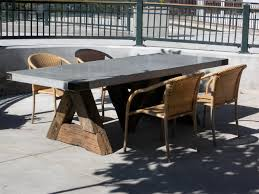 concrete top outdoor table triangle table with concrete top eclectic dining room san