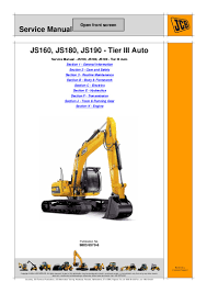 jcb js160 auto tier3 tracked excavator service repair manual sn