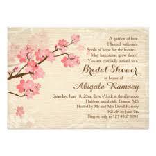 Cherry Blossom Wedding Invitations Cherry Blossom Bridal Shower Invitations U0026 Announcements Zazzle