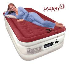 amazon com lazery sleep air mattress airbed with built in