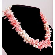 necklace pearl pink images Freshwater pearl and pink coral necklace jpg