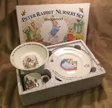 wedgwood rabbit nursery set rabbit 3 pc nursery set by wedgwood mug plate oatmeal made