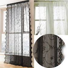 Cream Lace Net Curtains Lace Panels Window Ebay