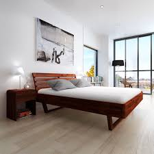 Modern Super King Size Bed Wood Bed Frame Personalised Home Design