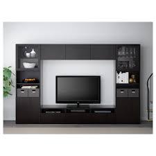 Ikea Besta Glass Doors by Bestå Tv Storage Combination Glass Doors Lappviken Sindvik Black