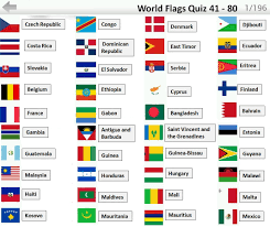 Country Flags Of The World Flags Quiz Answers 41 80 Flag Quiz Android Ios Game Walk