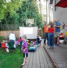 backyard movie night ideas home outdoor decoration