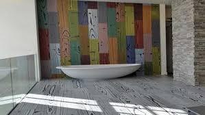 Rustic Bathroom Walls - rustic bathroom flooring ideas ceiling mount shower head two holes