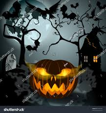 vector halloween vector halloween illustration full moon jack stock vector 87543784