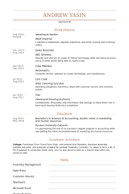Child Care Worker Resume Sample by Download Warehouse Worker Sample Resume Haadyaooverbayresort Com