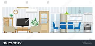living room dining room living room dining room kitchen stock vector 142775581 shutterstock