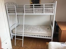 next ellie bunk bed white metal with 1 mattress good condition