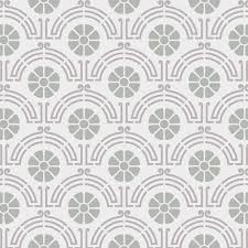 stencil for home decor classic flower walls fabric furniture